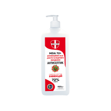 Антисептик MEDICAL DEF MDA 72+ 950 мл с дозатором