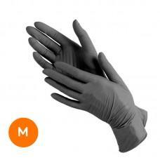 Нитриловые медицинские перчатки Размер М (1 пара) черные
