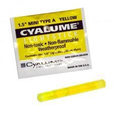 """Химический источник света Cyalume 1,5 """"Mini Type A Yellow 4 часа"""