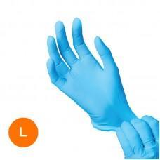 Нитриловые медицинские перчатки Размер L (1 пара) голубые